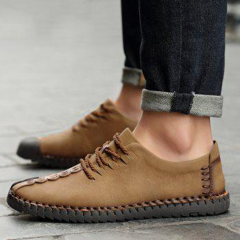 Lace Up Stitching Casual Shoes - EARTHY 43