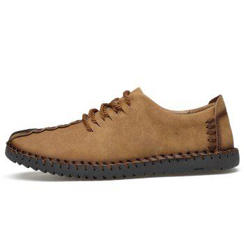 Lace Up Stitching Casual Shoes - EARTHY 42