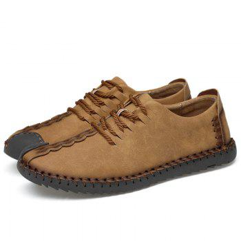 Lace Up Stitching Casual Shoes - EARTHY 39