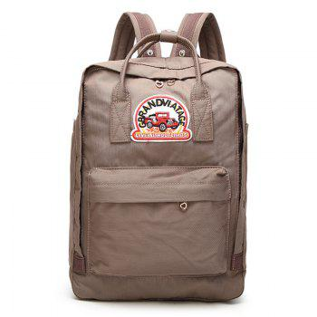 Car Letter Embroidery Backpack - KHAKI KHAKI