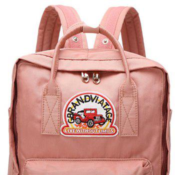 Car Letter Embroidery Backpack - VERTICAL VERTICAL