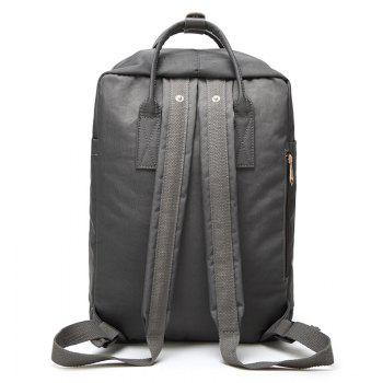 Car Letter Embroidery Backpack - GRAY VERTICAL