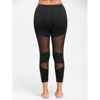 Sheer Workout  Leggings with Mesh Panel - XL XL