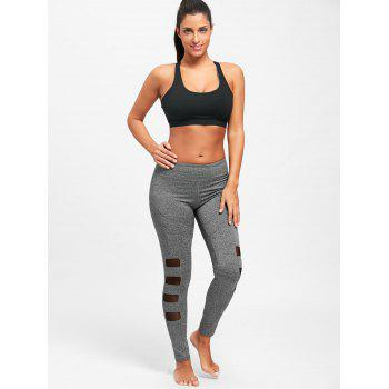 Mesh Insert Workout Tights - S S