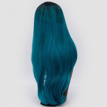 Center Parting Ombre Long Slightly Curly Synthetic Party Wig -  OASIS