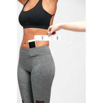 Mesh Insert Workout Tights - GRAY GRAY