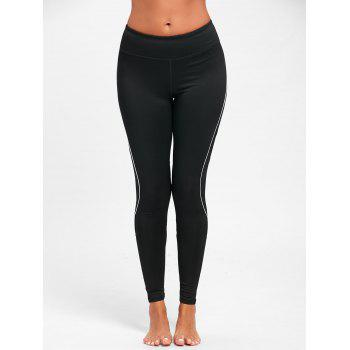 Midi Waist Contrast Tall Leggings for Sports - S S