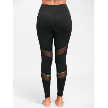 Midi Waist Contrast Tall Leggings for Sports - M M