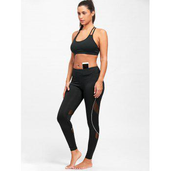 Midi Waist Contrast Tall Leggings for Sports - L L