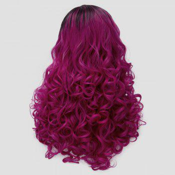 Side Parting Colormix Fluffy Long Curly Party Synthetic Wig - VIOLET ROSE