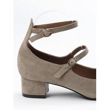 Ankle Strap Buckle Straps Pumps - APRICOT 40