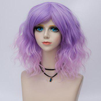 Medium Side Bang Water Wave Ombre Synthetic Party Cosplay Wig -  JUBILEE