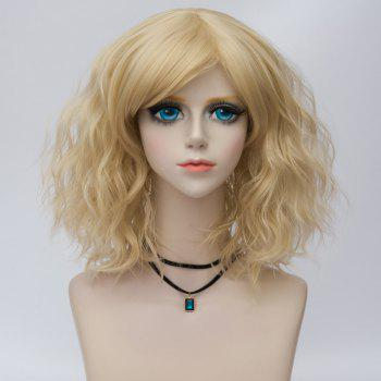 Medium Side Bang Water Wave Ombre Synthetic Party Cosplay Wig - LIGHT GOLD LIGHT GOLD