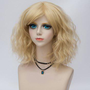 Medium Side Bang Water Wave Ombre Synthetic Party Cosplay Wig -  LIGHT GOLD