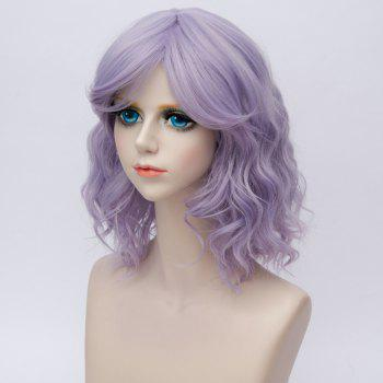 Medium Side Bang Water Wave Ombre Synthetic Party Cosplay Wig -  BLUE VIOLET