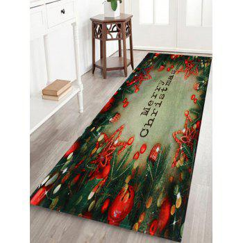 Christmas Tree Decorations Pattern Indoor Outdoor Area Rug - COLORMIX W16 INCH * L47 INCH