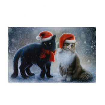 Christmas Cats Pattern Indoor Outdoor Area Rug - COLORMIX W24 INCH * L35.5 INCH