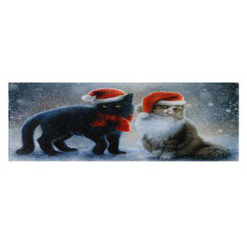 Christmas Cats Pattern Indoor Outdoor Area Rug - W16 INCH * L47 INCH W16 INCH * L47 INCH