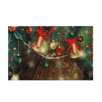 Christmas Bells Baubles Pattern Indoor Outdoor Area Rug - W16 INCH * L24 INCH W16 INCH * L24 INCH