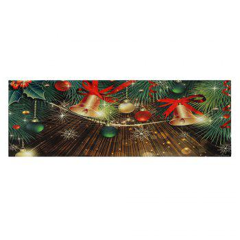 Christmas Bells Baubles Pattern Indoor Outdoor Area Rug - COLORMIX W24 INCH * L71 INCH