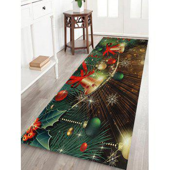 Christmas Bells Baubles Pattern Indoor Outdoor Area Rug - COLORMIX COLORMIX