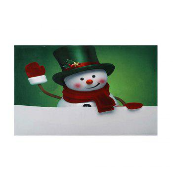 Christmas Hatted Snowman Pattern Indoor Outdoor Area Rug - COLORMIX W16 INCH * L24 INCH