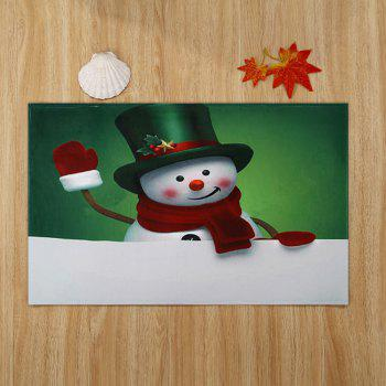 Christmas Hatted Snowman Pattern Indoor Outdoor Area Rug - COLORMIX W24 INCH * L35.5 INCH