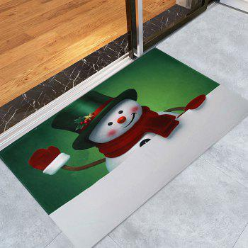 Christmas Hatted Snowman Pattern Indoor Outdoor Area Rug - COLORMIX COLORMIX