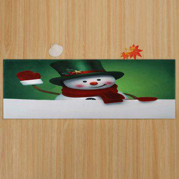Christmas Hatted Snowman Pattern Indoor Outdoor Area Rug - COLORMIX W16 INCH * L47 INCH