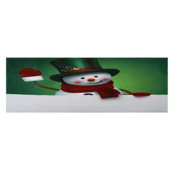 Christmas Hatted Snowman Pattern Indoor Outdoor Area Rug - COLORMIX W24 INCH * L71 INCH