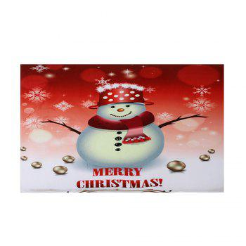 Snowman Merry Christmas Pattern Indoor Outdoor Area Rug - COLORMIX W16 INCH * L24 INCH