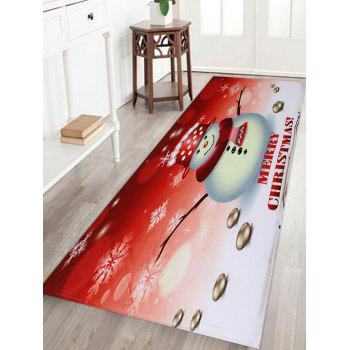Snowman Merry Christmas Pattern Indoor Outdoor Area Rug - COLORMIX W16 INCH * L47 INCH