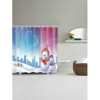 Snowman Christmas Snowscape Waterproof Shower Curtain - W59 INCH * L71 INCH W59 INCH * L71 INCH