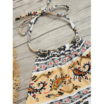 Tribal Printed Halter Bikini Set - COLORMIX COLORMIX