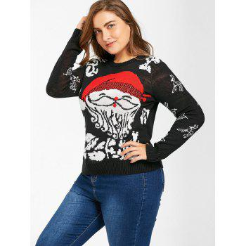 Christmas Santa Claus Plus Size Sweater - 4XL 4XL