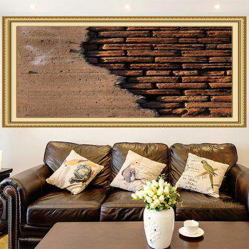 Broken Bricks Wall Printed Multipurpose Wall Art Painting - 1PC:24*47 INCH( NO FRAME ) 1PC:24*47 INCH( NO FRAME )