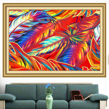 Wall Art Multipurpose Decorative Colorful Feathers Painting - COLORFUL 1PC:24*24 INCH( NO FRAME )