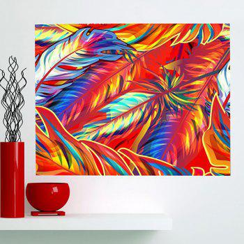 Wall Art Multipurpose Decorative Colorful Feathers Painting - COLORFUL 1PC:24*35 INCH( NO FRAME )