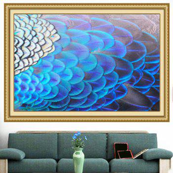 Shiny Peacock Feathers Print Wall Art Decorative Painting - 1PC:24*24 INCH( NO FRAME ) 1PC:24*24 INCH( NO FRAME )