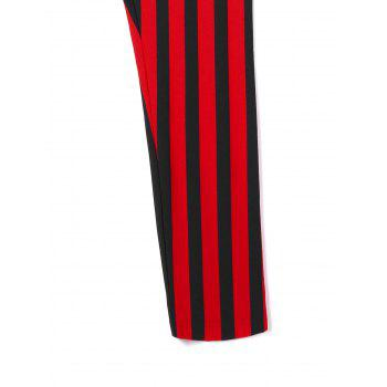 Plus Size Striped Pants - RED/BLACK XL