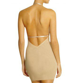 Plunge Convertible Strap Slip Corset Dress - COMPLEXION XL