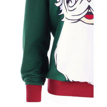 Plus Size Christmas Santa Claus Print Sweatshirt - XL XL