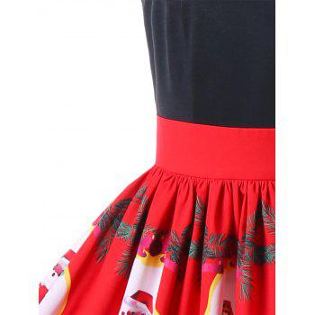 Santa Claus Strappy Swing Dress - RED 2XL