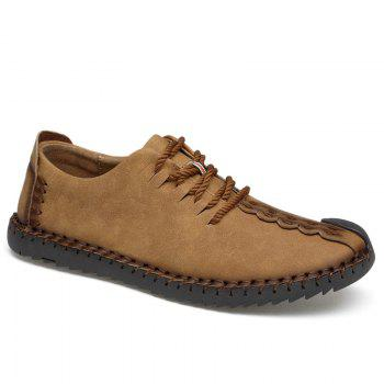 Lace Up Stitching Casual Shoes - EARTHY EARTHY