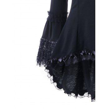Halloween Sweetheart Neck Lace Up Top - BLACK M