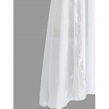 Lace Slip See Through Babydoll - WHITE S