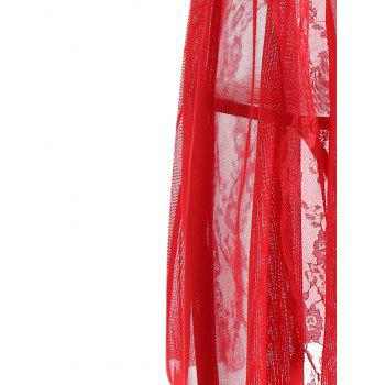 Lace Slip See Through Babydoll - RED XL