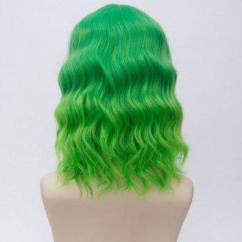 Medium Side Bang Water Wave Ombre Synthetic Party Cosplay Wig - EMERALD
