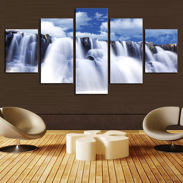 Waterfall Pattern Wall Unframed Canvas Paintings цена 2017