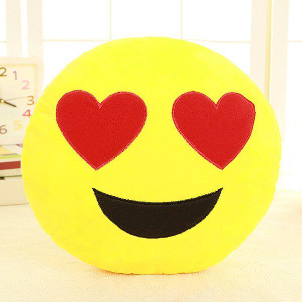 Smile Face Emoticon Pattern Pillow Case - RED